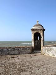 Cartagena defense wall tower detail