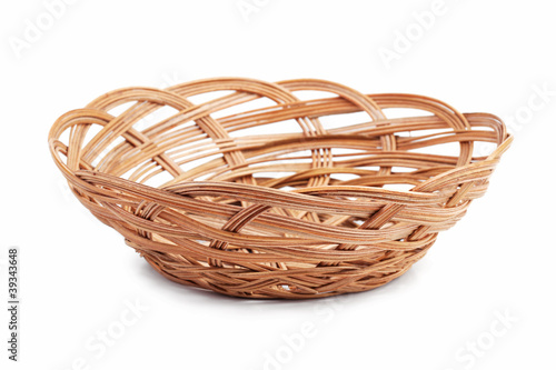 Wicker basket of bread or fruit