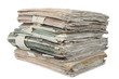 stack of paper isolated
