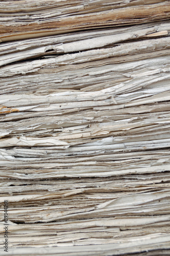 stack of paper close-up