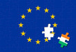 Jigsaw puzzle showing Ireland is a part of the European Union