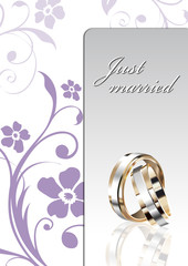 wedding card vector template