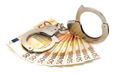euros and handcuffs