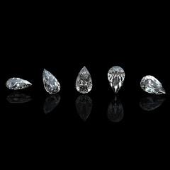 Collection of  diamond.  Gemstone