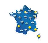 Carte de prévision météo - France