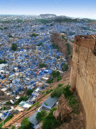"Jodhpur, India: view of the ""Blue City"" from Mehrangarh Fort"