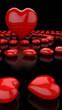 Herzkreise Rot Schwarz 04