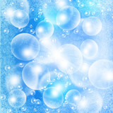 light bubbles on a blue grunge - 39348204