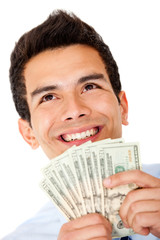 Successful businessman with money