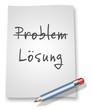 "Papier & Bleistift Illustration ""Problem / Lösung"""