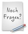 """Papier & Bleistift Illustration """"Noch Fragen?"""""""