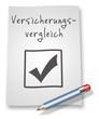 """Papier & Bleistift Illustration """"Versicherungsvergleich"""""""