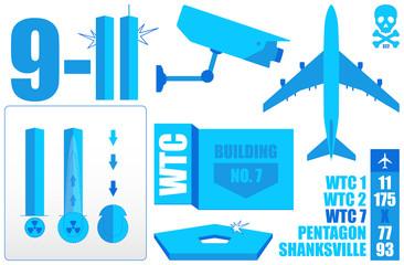 Vector Infographics (1/2) *** 9-11 WTC
