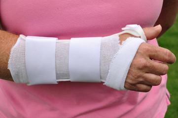 White Arm Brace