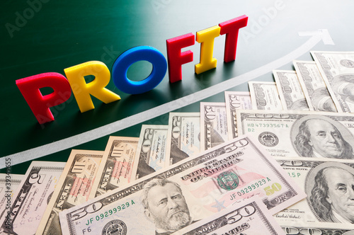 profit words and growing US dollars