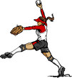 Fast Pitch Softball Pitcher Vector Illustration....