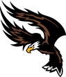 Flying Eagle Wings Mascot Design..