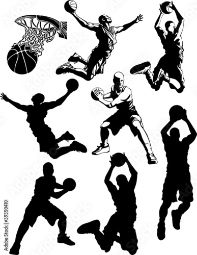 Basketball Silhouettes of Men ....