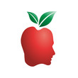 Logo Human red apple # Vector