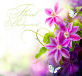 Abstract spring floral background - 39352277