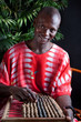 African young man in national clothes