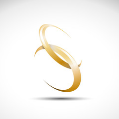 Logo letter S, wedding rings # Vector