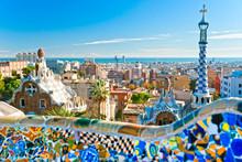"""Постер, картина, фотообои """"Park Guell in Barcelona, Spain."""""""