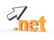 3D Domain net mit Pfeil