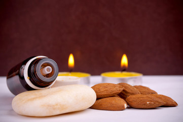 Almond and essential oil