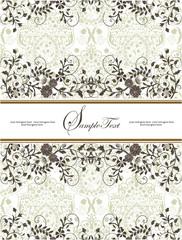 floral background, vector design