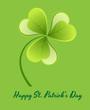 Green Glossy Shamrock Background