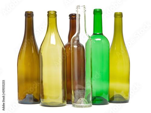 Leinwanddruck Bild Glasflaschen