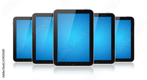 Group Of Tablet PC Isolated
