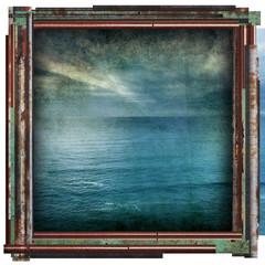 grunge ocean picture