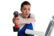 heimwerkerin mit akkuschrauber
