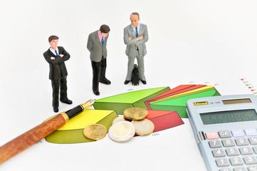 Diagramm Auswertung Geld Euro Manager