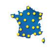 Carte météo France - soleil en été