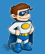 Little Superhero on White BG