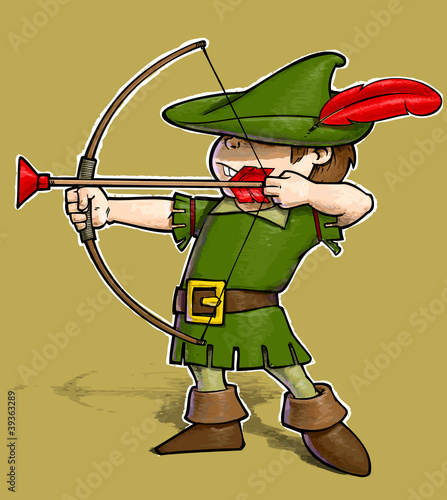 Robin Hood on White BG