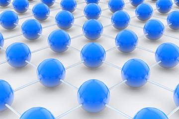 Netzwerk aus Kugeln