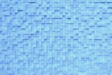 Fläche aus blauen Würfeln