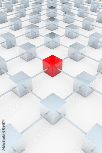 Roter 3D-Quader