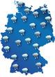 Wetter Karte von Deutschland : Regen