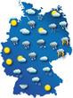Wetter Karte von Deutschland