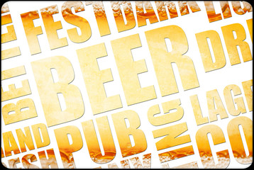 beer background text