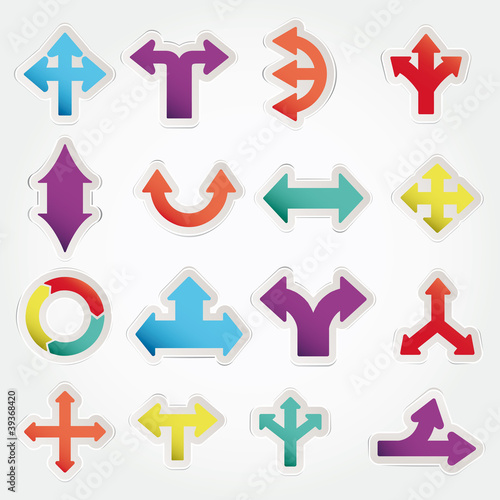 Set vector arrows icons