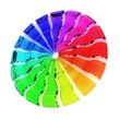 3D Colour glass wheel - Rainbow 4