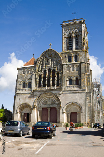 The cathedral of St. Mary Magdalene in Vezelay Abbey in France