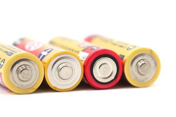 乾電池のクローズアップ