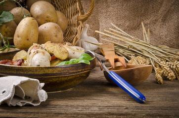 Schlesische Kartoffelklöße mit Kasseler und Sauerkraut